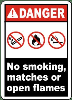 Danger No Smoking, Matches Label