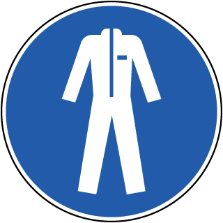 Wear Protective Clothing Label