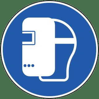 Wear A Welding Mask Label