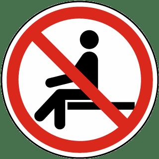No Sitting Label