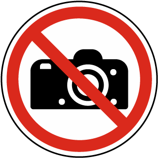 No Photography Label