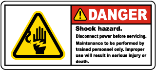 Shock Hazard Disconnect Label