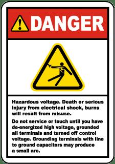 High Voltage Stickers Ansi Osha High Voltage Labels