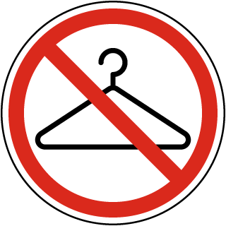 No Hangers Label