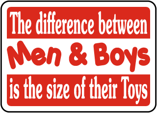 Difference Between Men & Boys Sign
