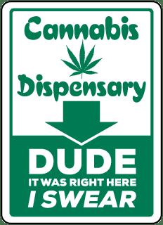 Cannabis Dispensary Location Sign