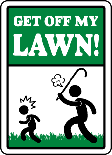Get Off My Lawn Sign
