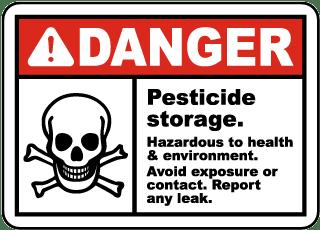 Pesticide Storage Avoid Exposure Sign