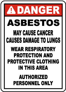 OSHA Compliant Asbestos Wear PPE Sign