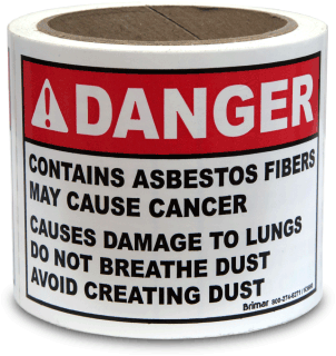 OSHA Compliant Asbestos Waste Labels
