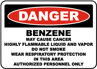 OSHA Benzene May Cause Cancer Sign