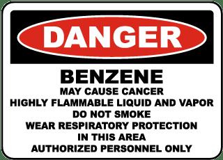 OSHA Benzene May Cause Cancer Sign