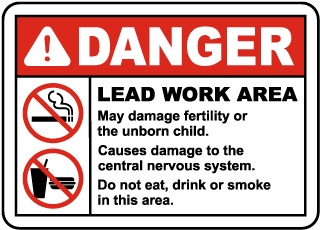 OSHA Lead Work Area Sign