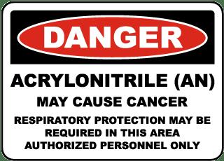 OSHA Acrylonitrile May Cause Cancer Sign