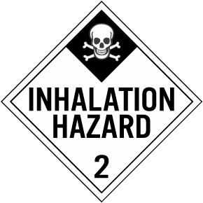 Inhalation Hazard Class 2 Placard