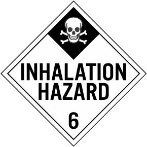 Inhalation Hazard Class 6 Placard