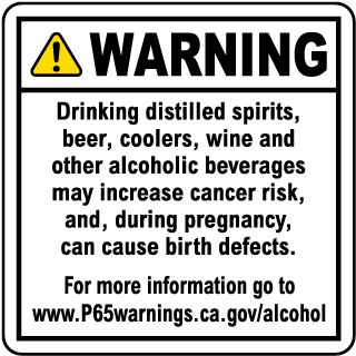 Alcoholic Beverage Exposure Point of Sale Warning Sign