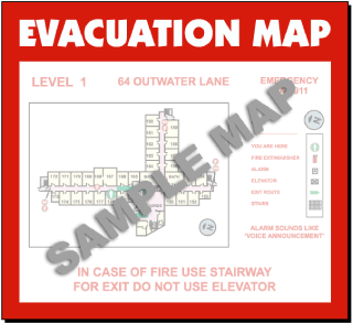 Evacuation Map Holder