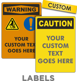 Custom OSHA Safety Label