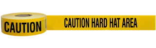 Caution Hard Hat Area Barricade Tape
