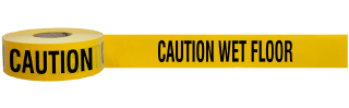 Caution Wet Floor Barricade Tape