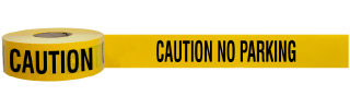 Caution No Parking Barricade Tape