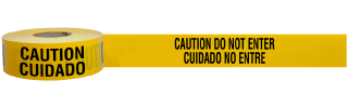 Bilingual Caution Do Not Enter Tape