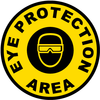 Eye Protection Area Floor Sign