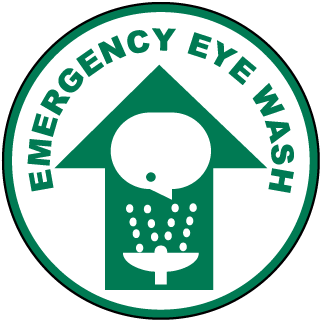 Emergency Eye Wash Floor Sign