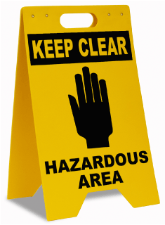 Hazardous Area Keep Clear Floor Sign