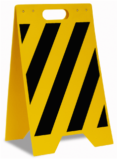 Yellow / Black Striped Floor Sign