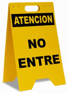 Spanish Do Not Enter Floor Sign