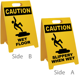 Wet Floor / Slippery When Wet Floor Sign