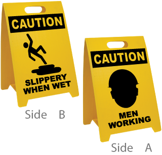 Slippery When Wet / Men Working Floor Sign