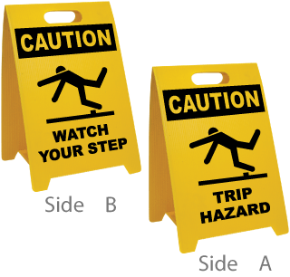 Watch Your Step / Trip Hazard Floor Sign