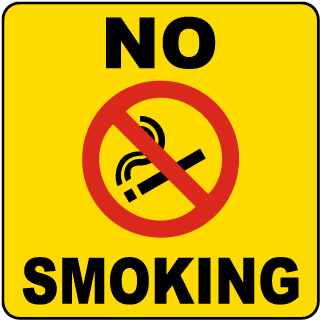 No Smoking Label