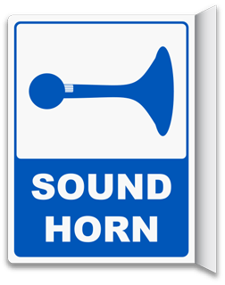 2-Way Sound Horn Sign