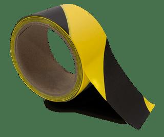Yellow / Black Striped Floor Tape
