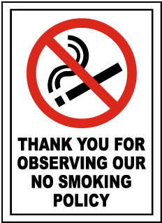 Observing No Smoking Policy Sign