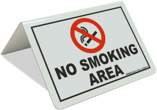 No Smoking Area Tent Sign