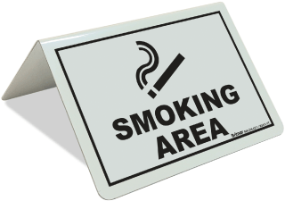 Smoking Area Tent Sign