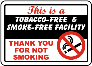 Tobacco & Smoke-Free Facility Sign