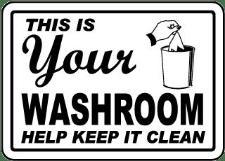 Bathroom Etiquette Signs, Bathroom Signs, Restroom ...