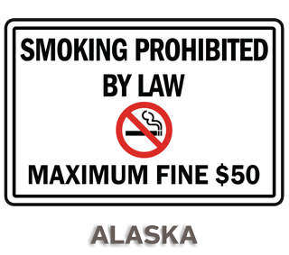 Alaska No Smoking Sign