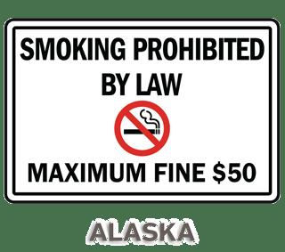 Alaska No Smoking Sign