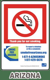 Arizona No Smoking Sign