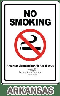 Arkansas No Smoking Sign