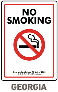 Georgia No Smoking Sign