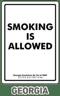Georgia No Smoking Sign