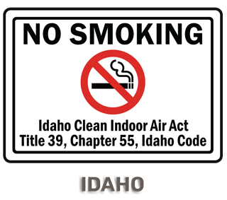 Idaho No Smoking Sign